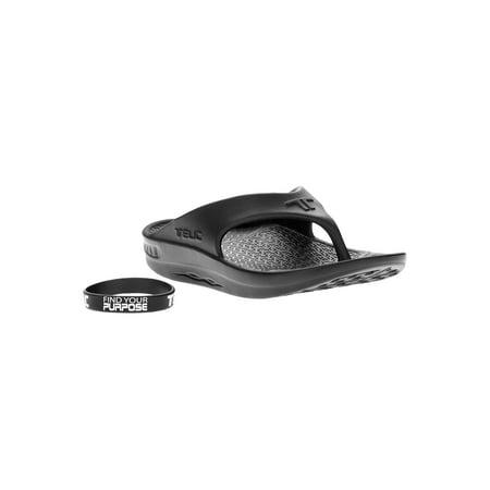 Brown Unisex Flip Flops - Telic Flip Flop Sandal Color Midnight Black Size Extra Small