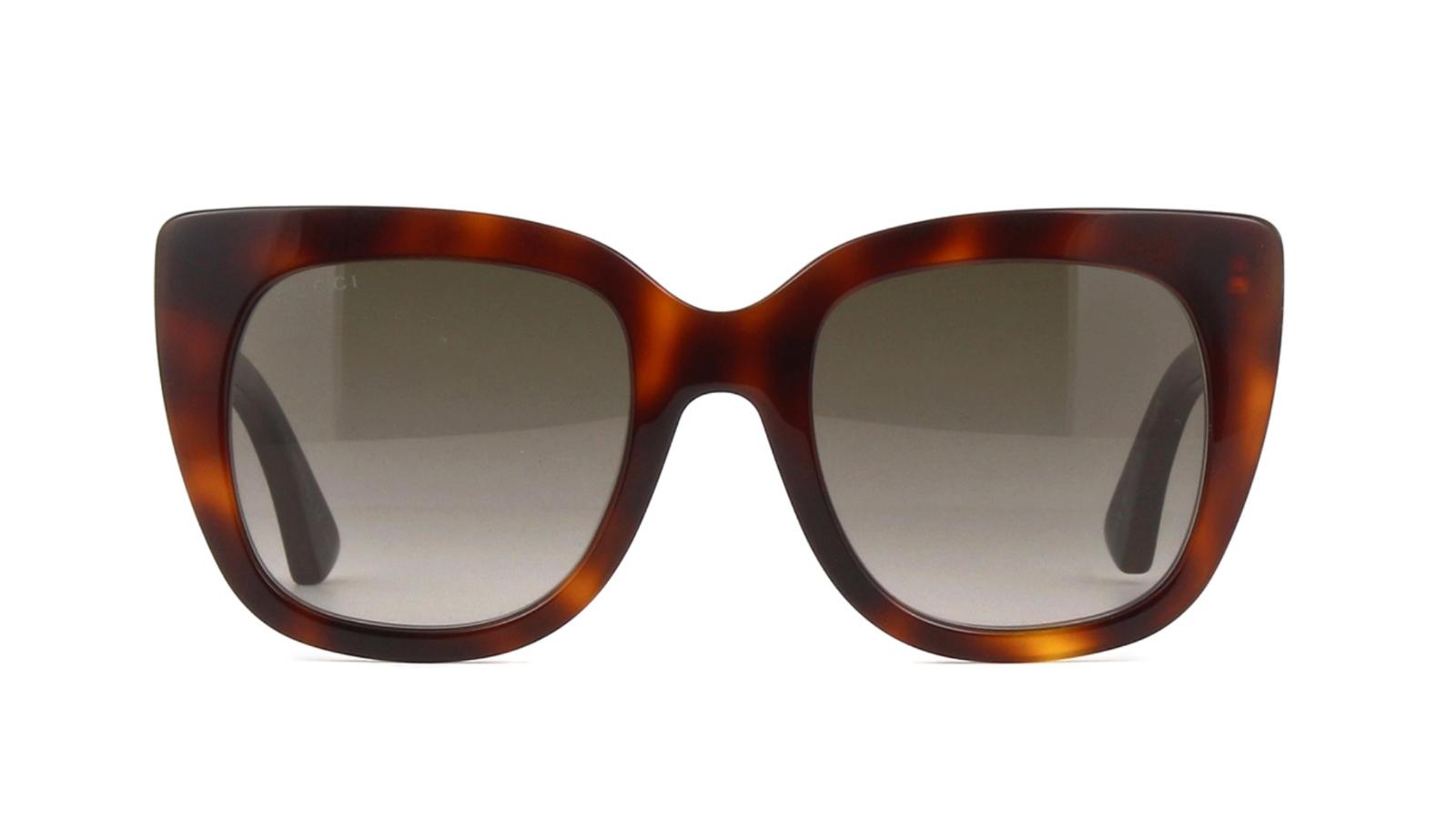ff673eba360 Gucci - Gucci Brown Gradient Sunglasses GG0163S 002 51 - Walmart.com