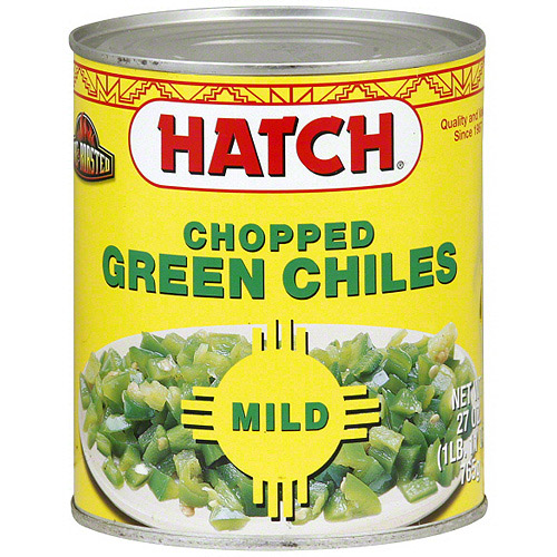 Hatch Mild Chopped Green Chiles, 27 oz (Pack of 6)