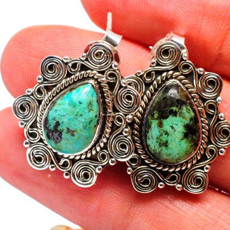 African Turquoise Jasper Earrings 1