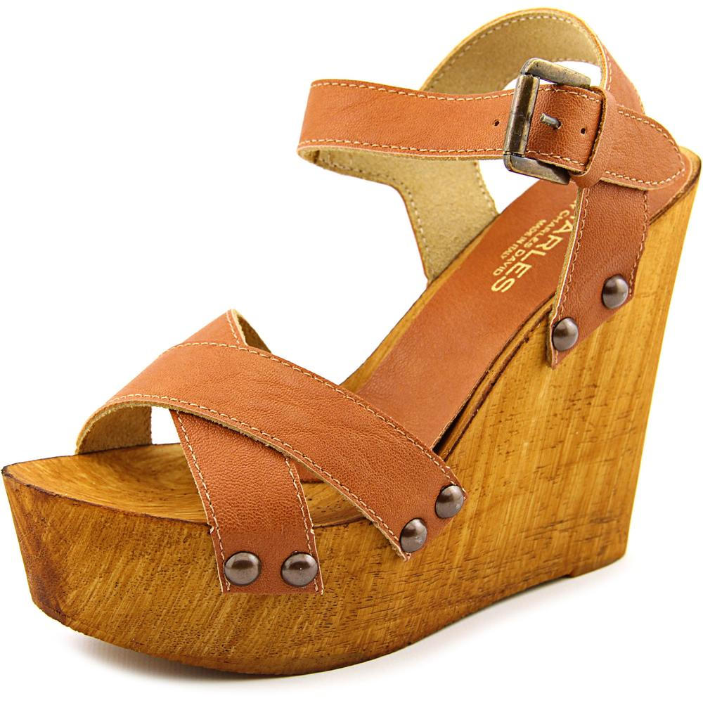 Charles By Charles David Munich Women  Open Toe Leather  Wedge Sandal
