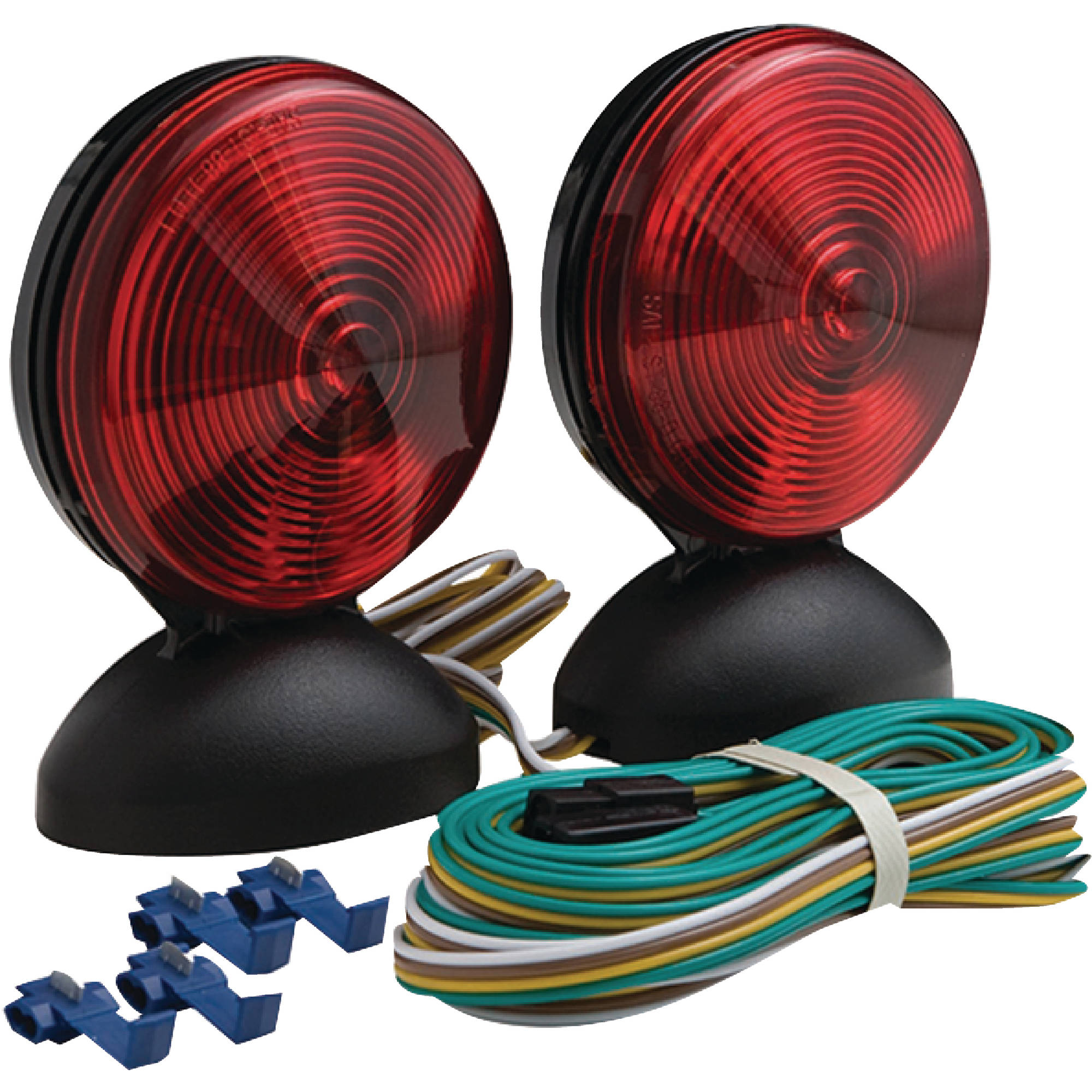 Optronics TL22RK Magnet Mount Towing Light Kit, Includes 20' Wishbone Style Wiring Harness