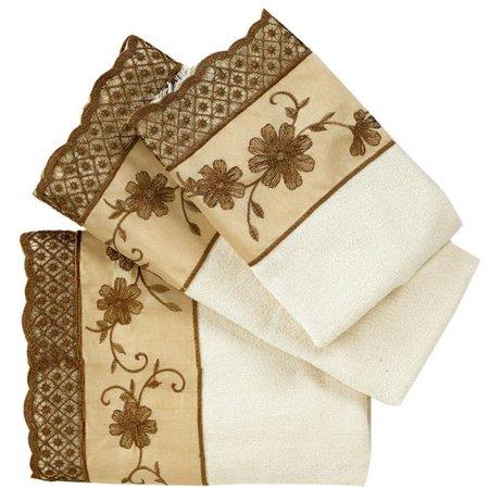 Sweet Home Collection Veronica 3 Piece Towel Set - Walmart.com