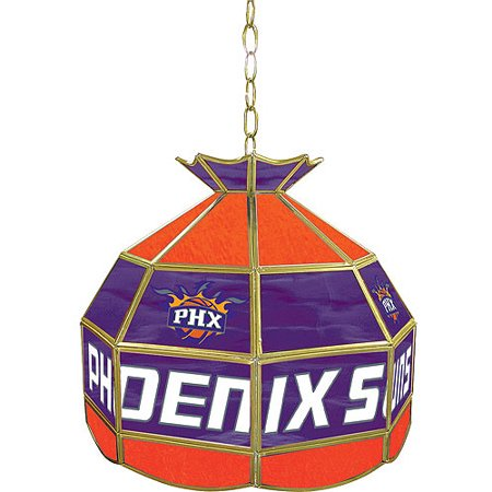 "Trademark Global Phoenix Suns NBA 16"" Stained Glass Tiffany Lamp Light Fixture by"