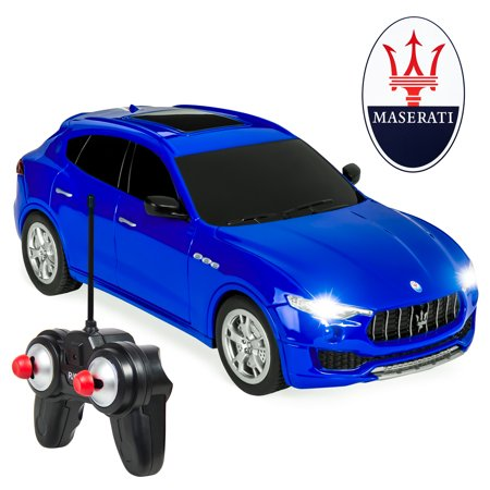 1 18th Scale Rc - Best Choice Products 1/24 Scale 27MHz Officially Licensed RC Maserati Levante Remote Control Toy Car - Blue