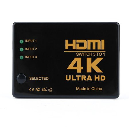 HC-TOP 3x1 Rectangle HDMI Switch 4k x 2k 3D HDMI Switcher Hub Port Switches HD1080p - image 3 of 13