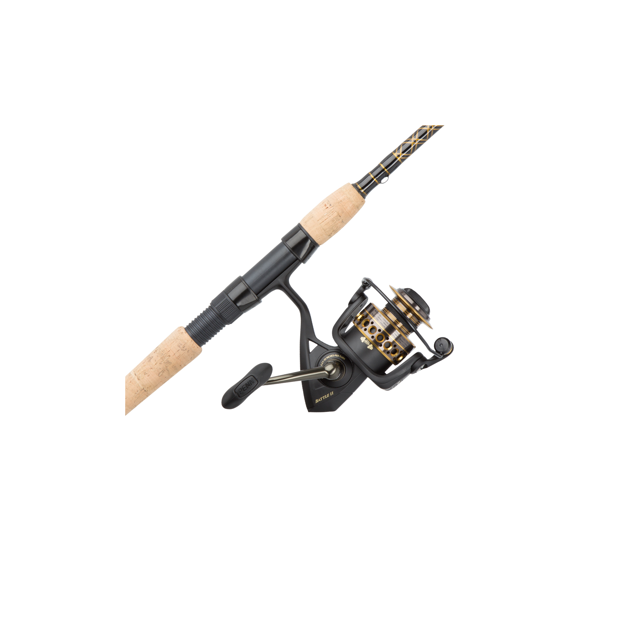 Penn Battle II Spinning Reel and Fishing Rod Combo