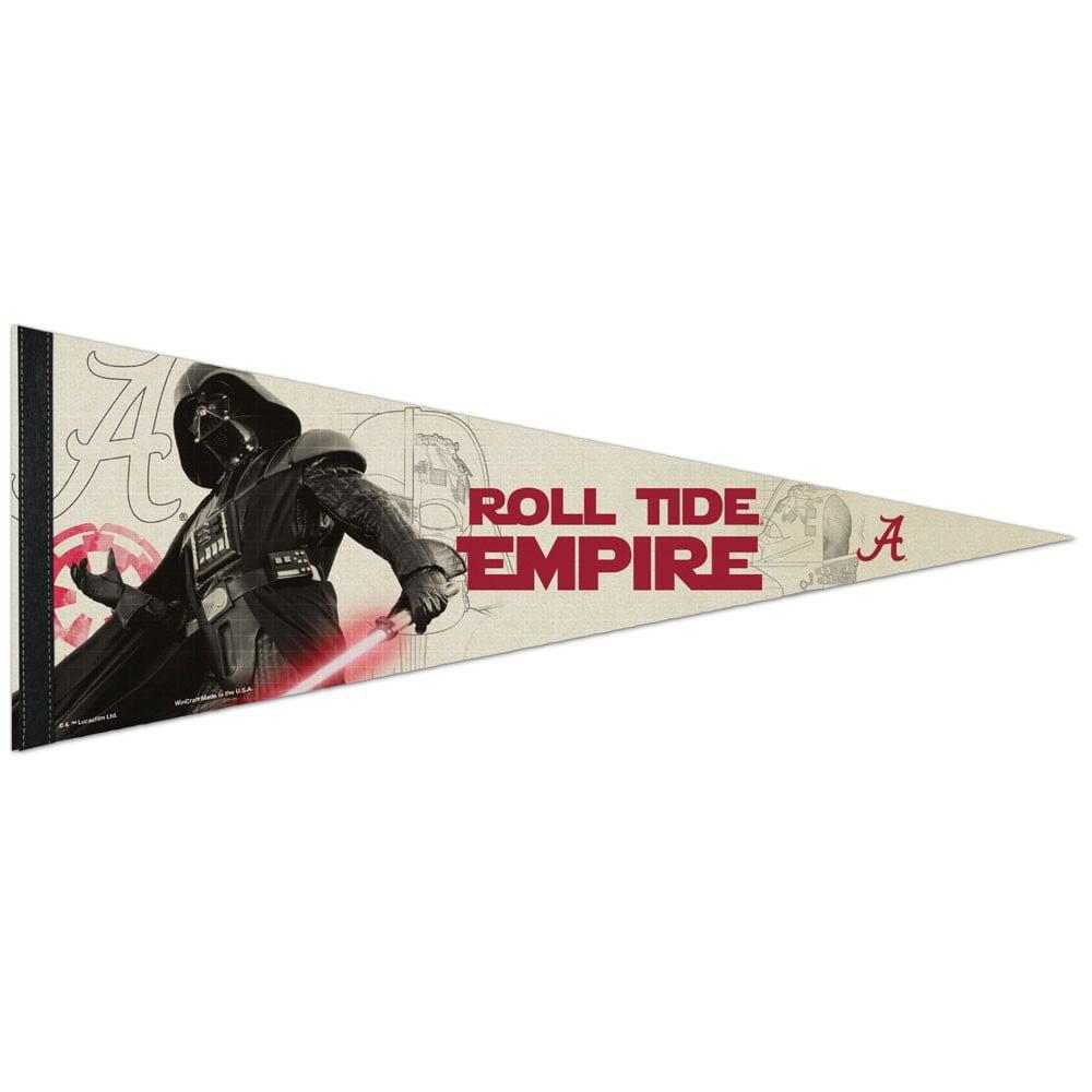 Alabama Crimson Tide Official NCAA 29 inch  Star Wars Darth Vader Premium Pennant by WinCraft