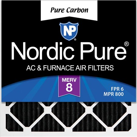 12x12x1 (11_3/4x11_3/4) Pure Carbon Odor Reduction Furnace Air Filters 12 (Babolat Pure Aero French Open 12 Pack Bag)