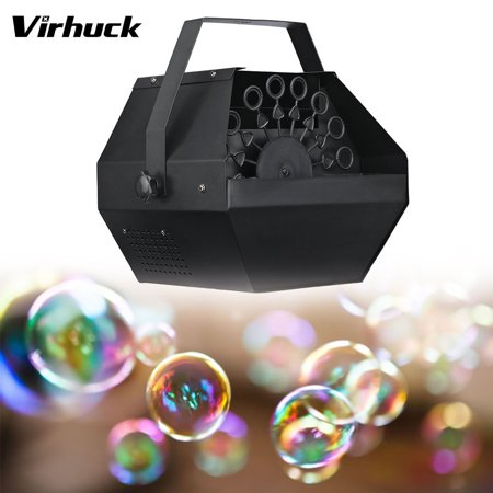Virhuck Professional Automatic Bubble Machine, Portable Electric Bubble Maker Bubble Blower Machine with High Output, Outdoor Indoor Activities Wedding, Birthday, Dance, Parties, Stage Show for $<!---->