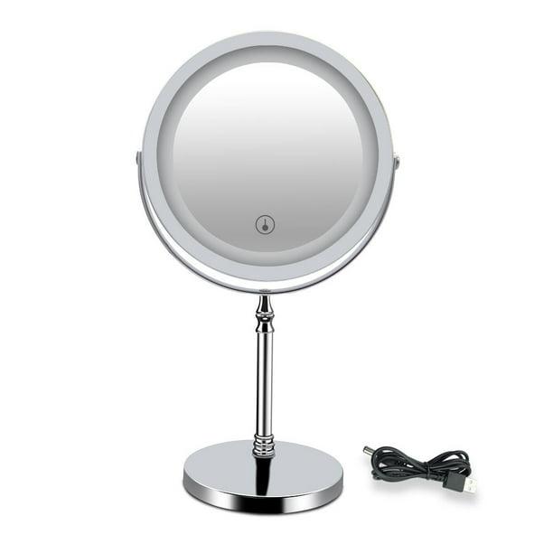 1x 10x Magnifying Lighted Makeup Mirror, Battery Illuminated Makeup Mirror