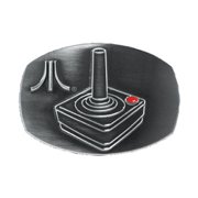 Atari Men's Belt Buckle Silver