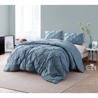 BYB Smoke Blue Pin Tuck Comforter