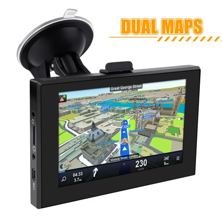 NEW 5 inch GPS Navigation WIFI Android system Dual Map 3D Voice Broadcast Capacitive screen Resolution (Best Resolution Satellite Maps)