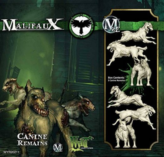 Malifaux: Resurrectionists Canine Remains (3) Multi-Colored