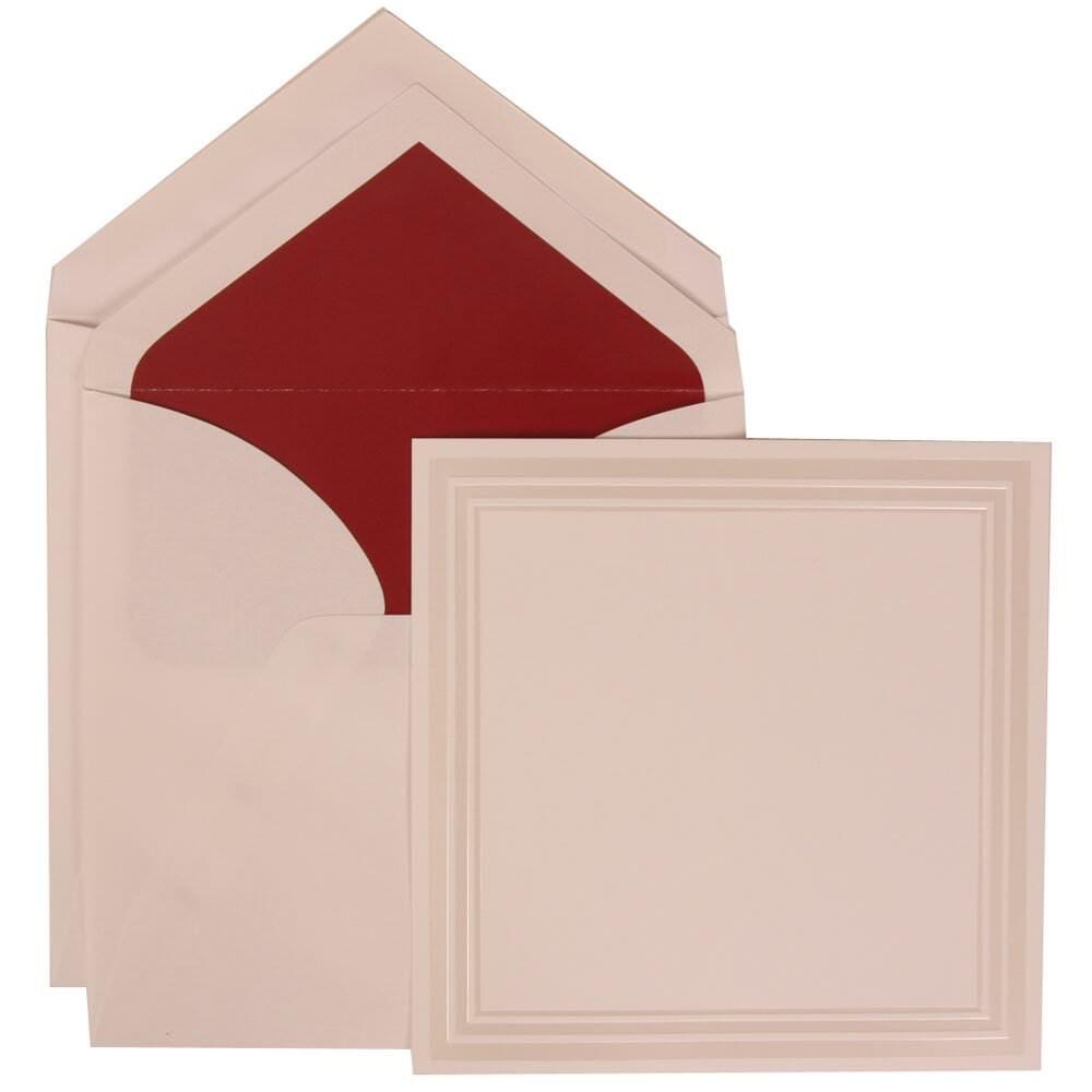JAM Paper Wedding Invitation Set, Large Square, 7 x 7, White Card ...