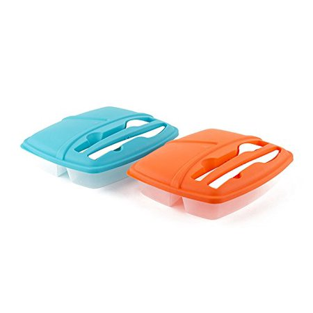Play Healthy Lunch - Pack of 2 Plastic Bento Lunch Box Set with Utensils - Food Storage Containers, Nowadays, we thrive to eat healthy and save money. This bento lunch box will not only serve as a lunch carrier to school
