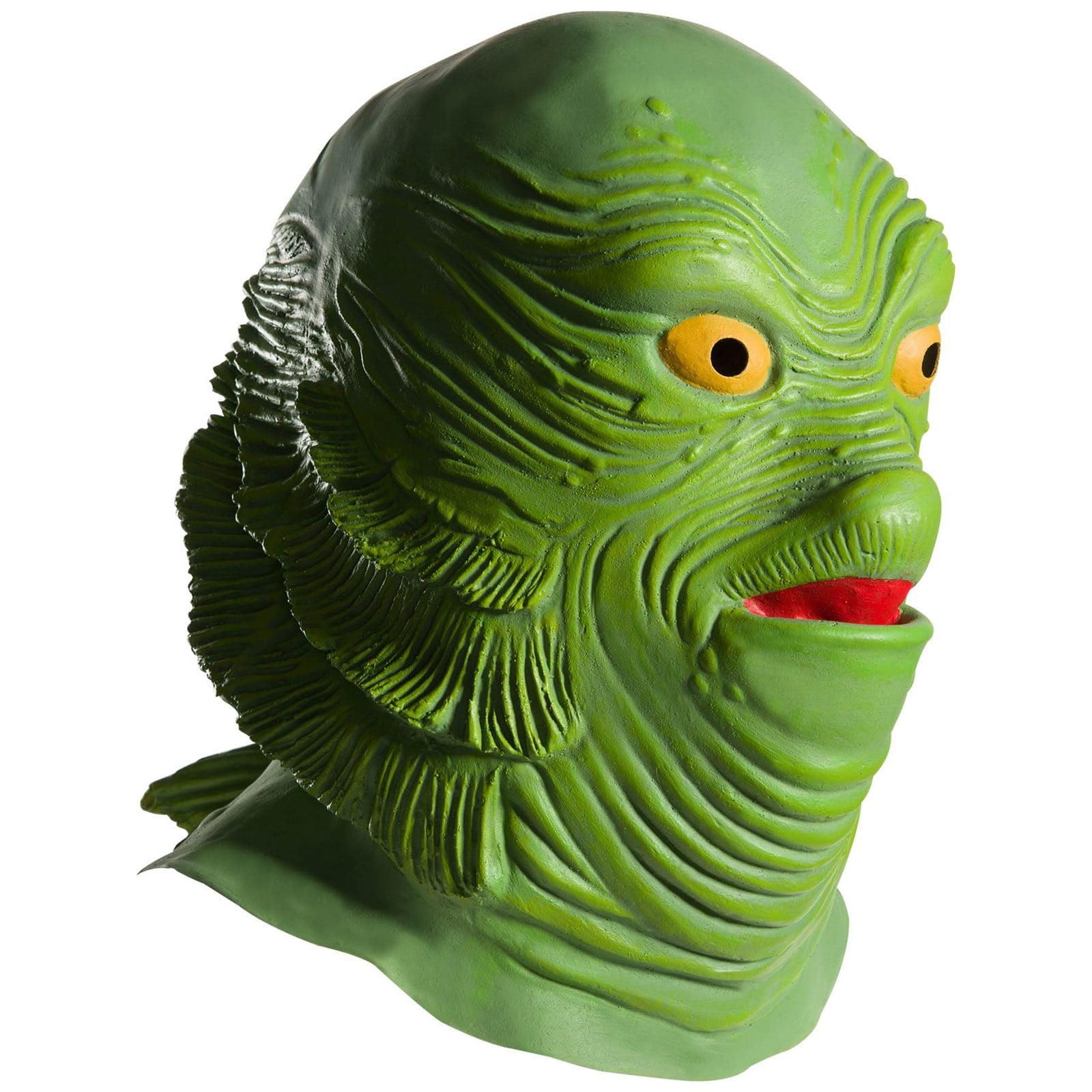Universal Monsters Creature From The Black Lagoon Overhead Vinyl Mask Halloween Costume Accessory Walmart Com Walmart Com