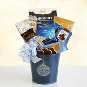 Silver Blue Sweet Sensations Gift Basket