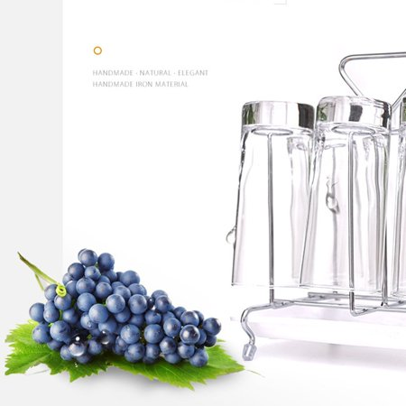 Glass Cup Water Storage Shelf Drying Cup Drainage Organizer Kitchen Stand - image 5 of 10