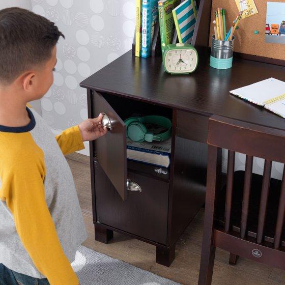 Kidkraft Kids Desk With Chair And Corkboard White Or Espresso Com