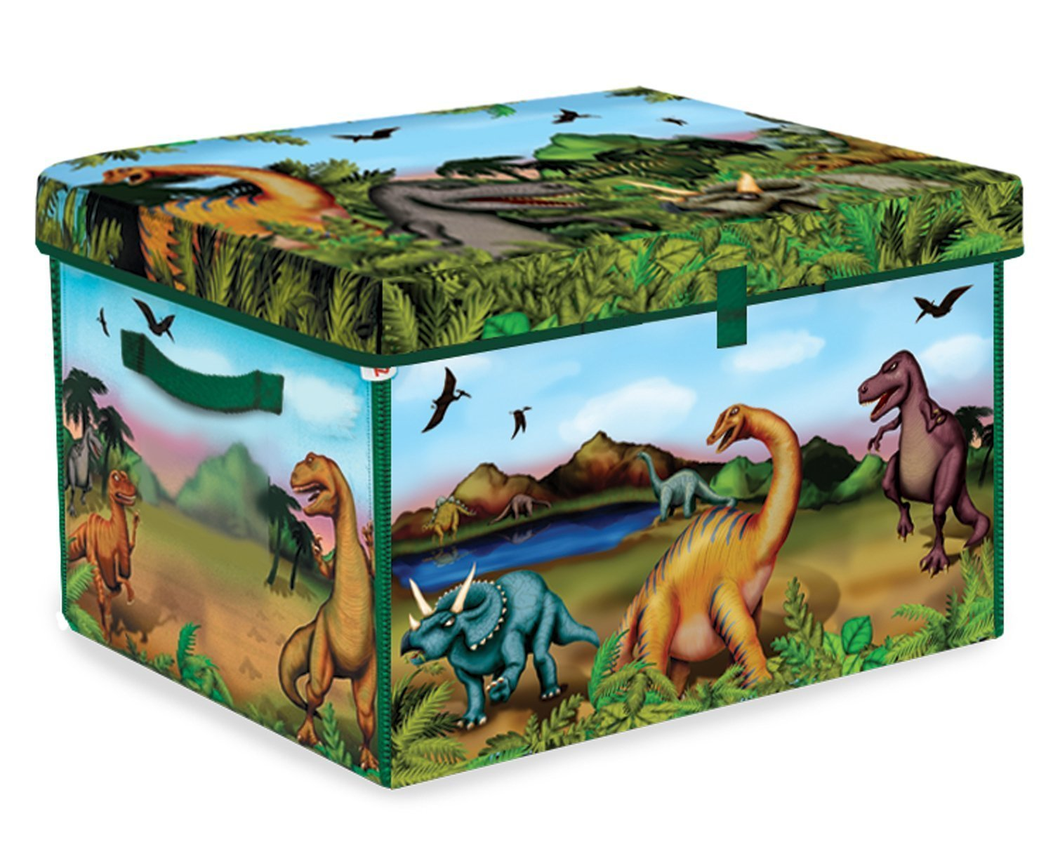 Neat-Oh! 160 Dinosaur Collector Toy Box & Playset w  2 Dinosaurs, USA, Brand ZipBin by