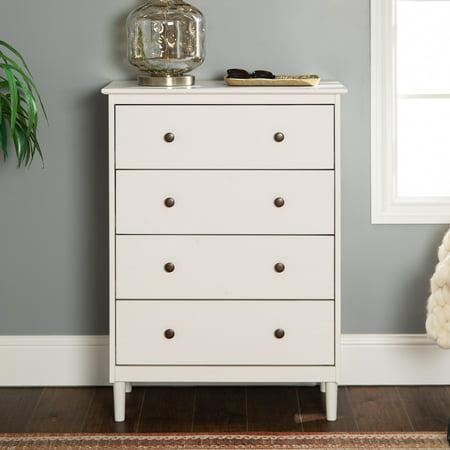 Jules 4 Drawer White Dresser by Bellamy Studios ()
