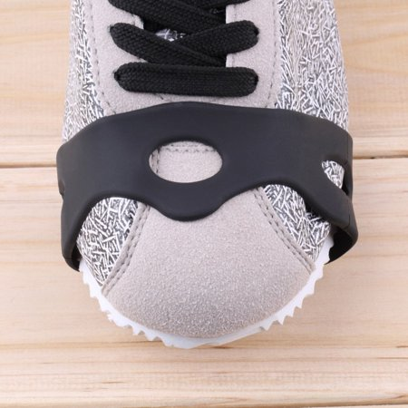 1pair Delicate Snow Ice Climbing Anti Slip Spikes Grips Crampon Cleats 5-Stud Shoes Cover fasten overshoes to your shoes - image 5 de 12