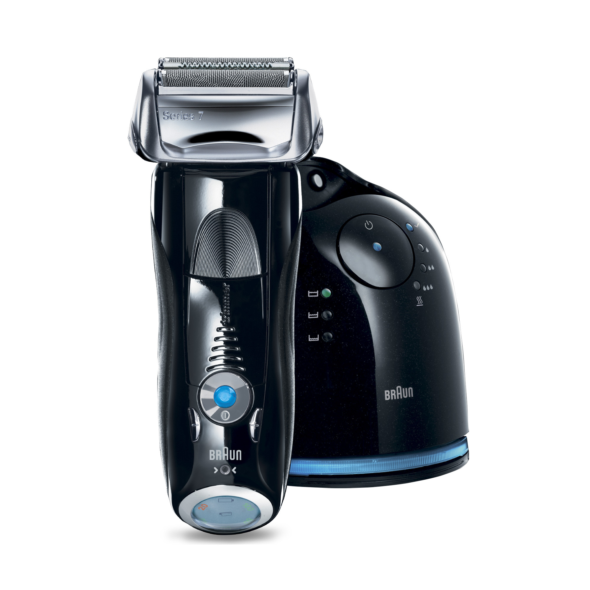 Braun Series 7 760cc-4 Electric Foil Shaver with Clean&Charge Station Plus Bonus Mobile Shaver + 2 Clean & Charge Refills