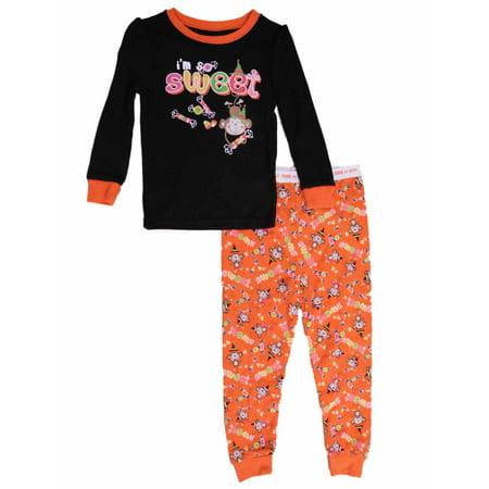 Infant & Toddler Girls 2 Piece I'm So Sweet Pajamas Sleep - Halloween Sleepy Hollow