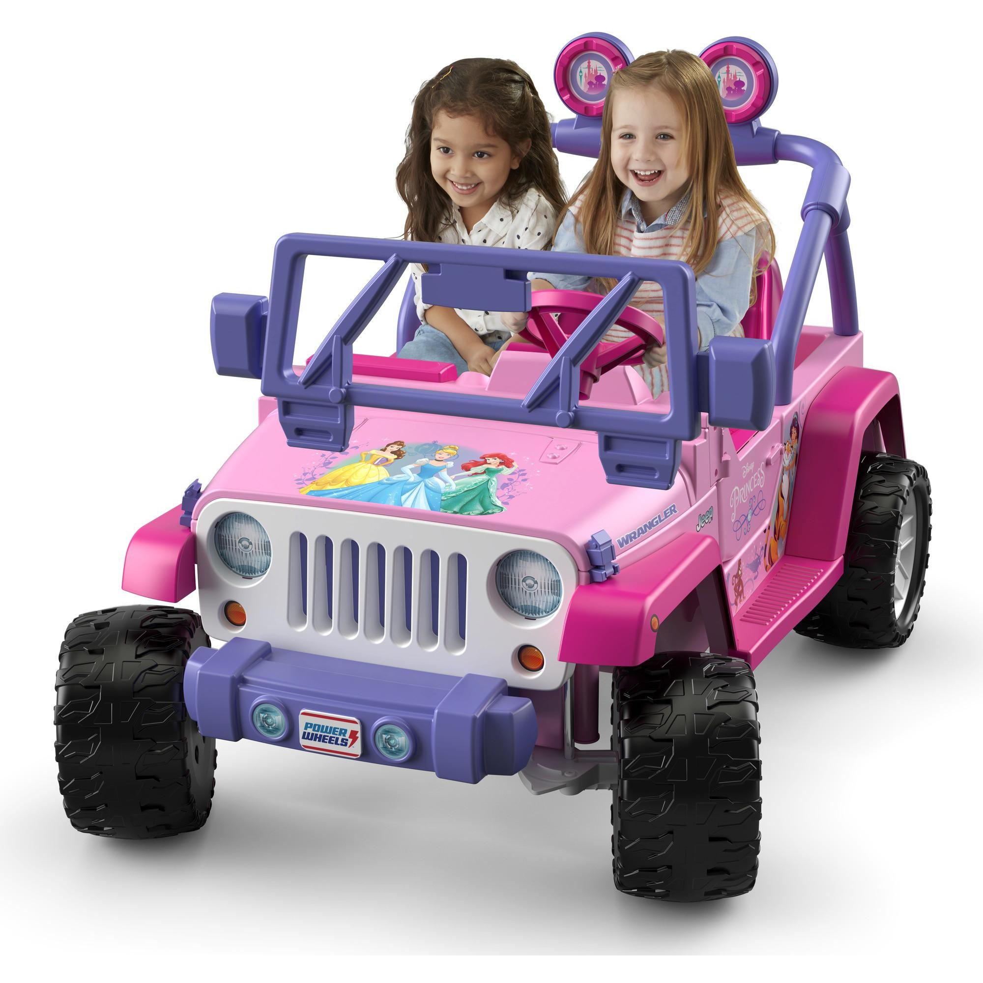 Power Wheels Disney Princess Jeep Wrangler Ride-On Vehicle, Pink