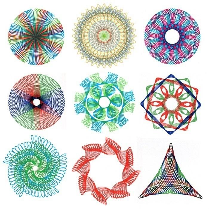 Creative Geometric Ruler Stencil Spiral Gear Drawing Tool Stationery
