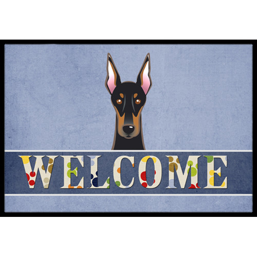 Doberman Welcome Indoor or Outdoor Mat 24x36 BB1431JMAT