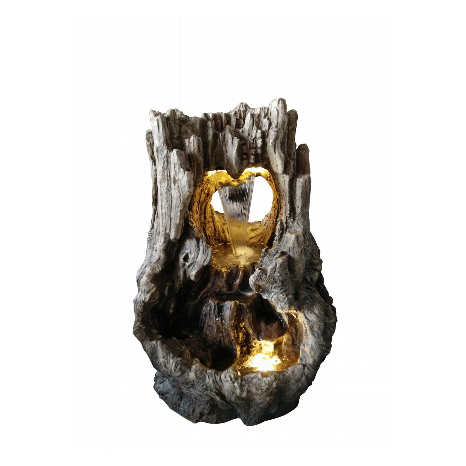 Alpine Rainforest Waterfall Fountain w  LED Lights, 31 Inch Tall by Alpine Corporation