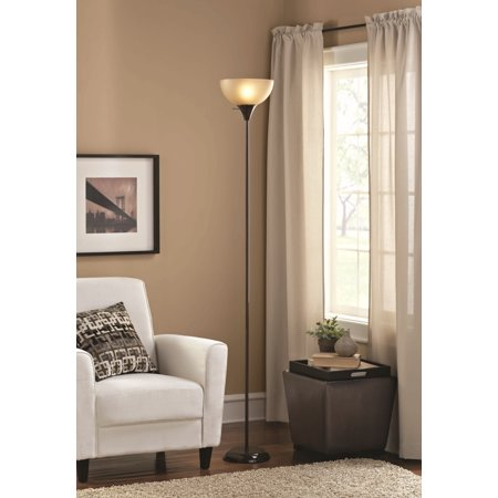 Mainstays Floor Lamp Brown Finish
