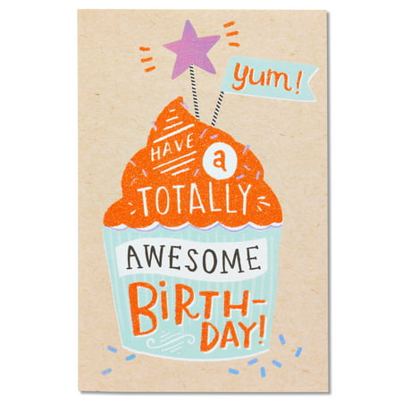American greetings totally awesome cupcake birthday card with american greetings totally awesome cupcake birthday card with glitter m4hsunfo