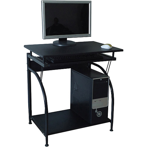 comfort products stanton computer desk with pullout keyboard tray - Small Computer Desks