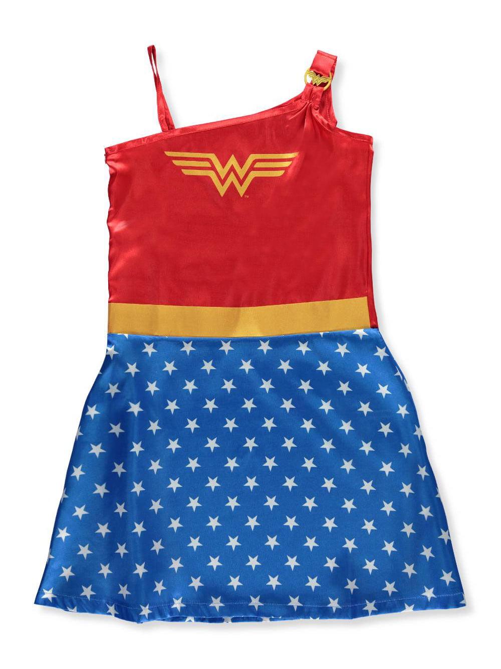 Girl's Wonder Woman One Shoulder Costume Warrior Princess Pajama Gown (Big Girls & Little Girls)