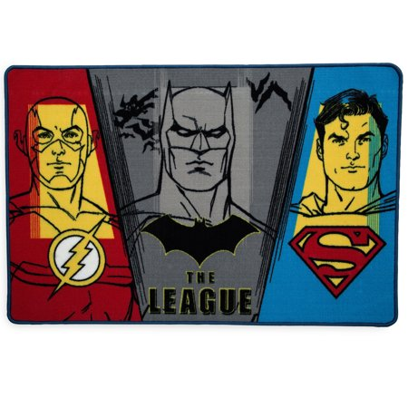DC Comics Justice League Soft Area Rug with Non-Slip Backing by Delta Children (Halloween Events Dc Area)