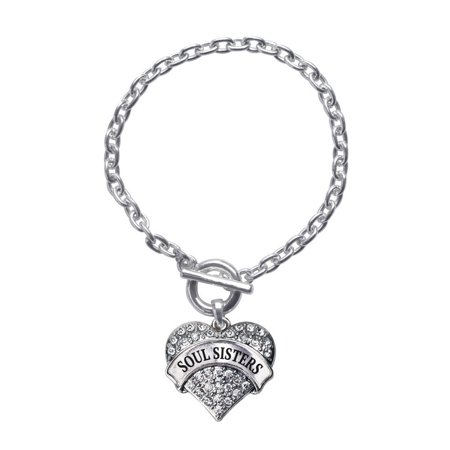 Soul Sisters Pave Heart Toggle (Tiffany Style Heart Toggle Bracelet)