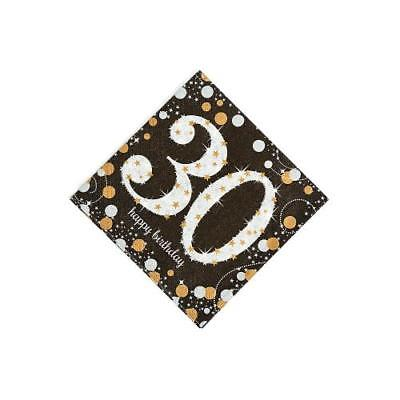 IN-13773828 Sparkling Celebration 30th Birthday Beverage Napkins 16 Piece(s) 4PK