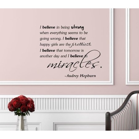 Inspirational Quotes Vinyl Wall Decal, w/ Transfer Tape, For Any Hard (Vinyl Wall Transfers)