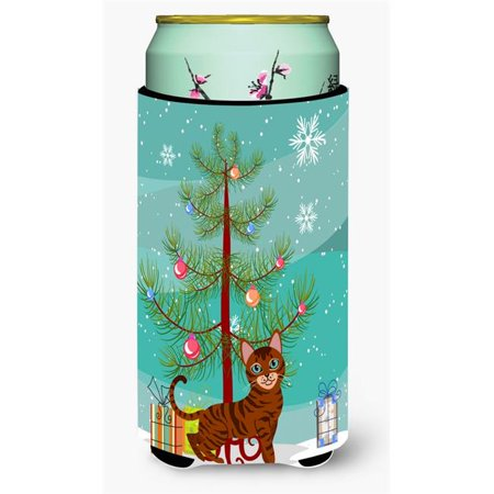 Carolines Treasures BB4434TBC Toyger Cat Merry Christmas Tree Tall Boy Beverage Insulator Hugger - image 1 de 1