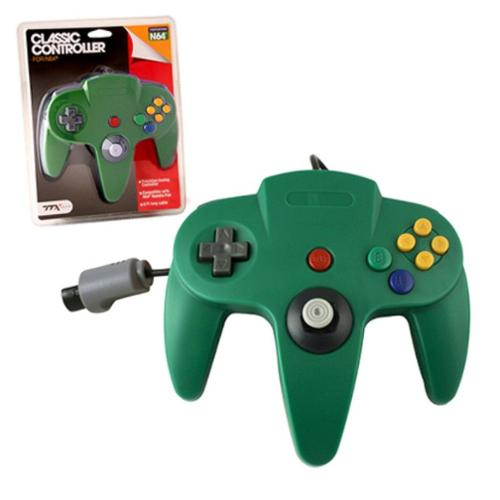 Wired Controller For Nintendo 64 System Green