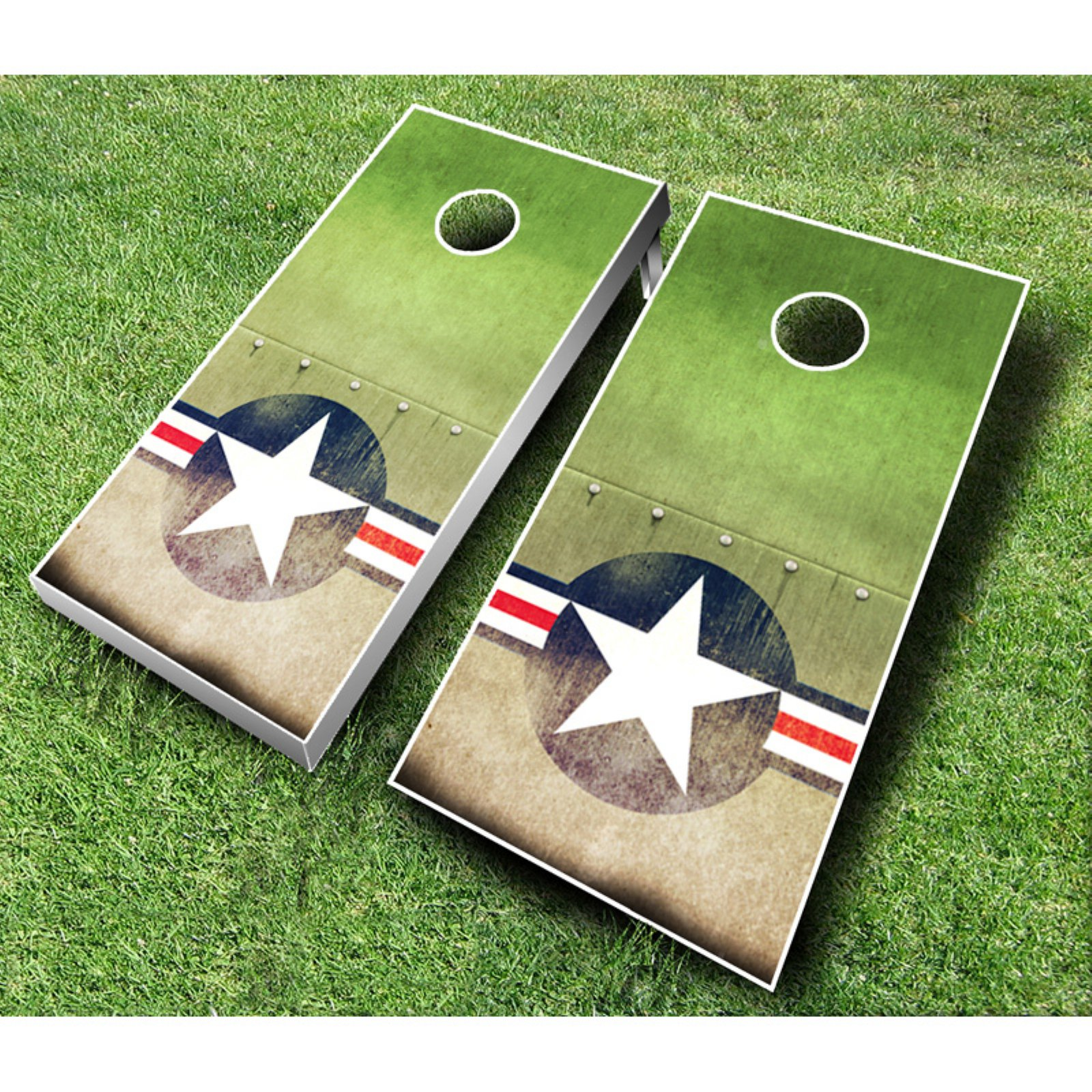 Air Force Cornhole Set with Bags by AJJ Cornhole