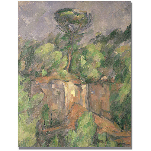 "Trademark Fine Art ""Bibemus Quarry"" Canvas Wall Art by Paul Cezanne"