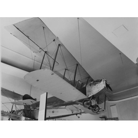 An Early Bi Wing Plane on Display at Museum of Science and Industry Print Wall Art