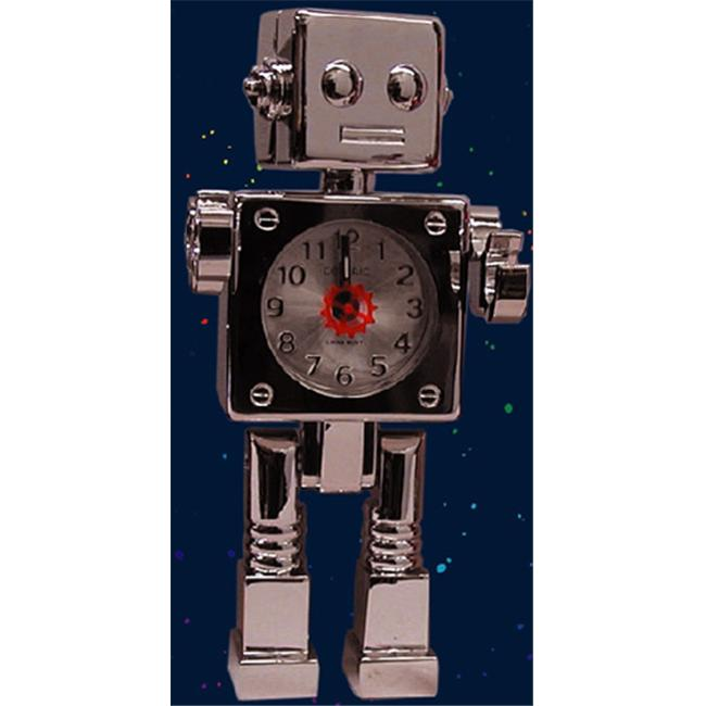 Centric ACMRS Shiny Chrome Robot Alarm with Moveable Limbs - image 1 of 1