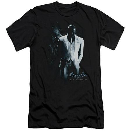 Batman Arkham Origins - Black Mask - Slim Fit Short Sleeve Shirt - (Halloween's Origins)