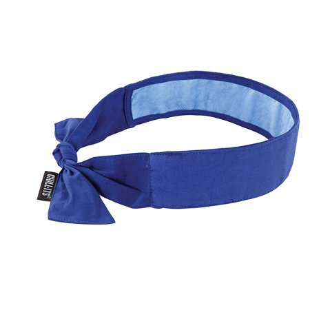 Chill-Its 6700CT Evaporative Cooling Bandana - Tie Closure, Blue, LONG LASTING INSTANT COOLING RELIEF Can last for up to 4 hours on a single soak..., By Ergodyne - Bandanas For Sale